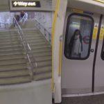イギリスで発見!地下鉄と競争する男