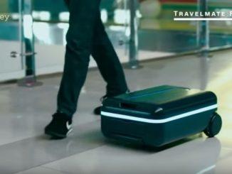 自走するスーツケースを開発