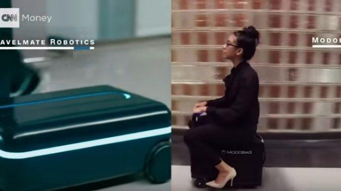 実用化へ期待がかかる、自走するスーツケース