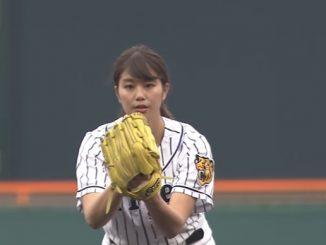 稲村亜美が始球式に登場