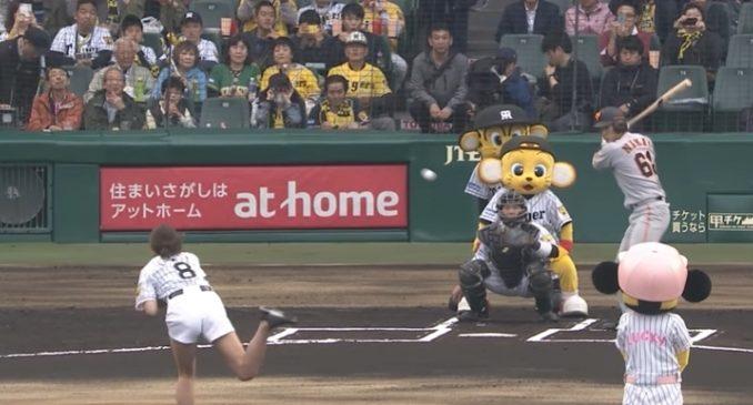 稲村亜美が始球式で自己最速103キロをマーク