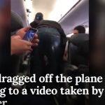 ユナイテッド航空問題!オーバーブッキングで強制的に機外へ連れ出された男性