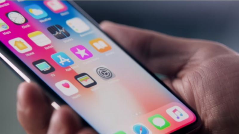 iPhone X の画面